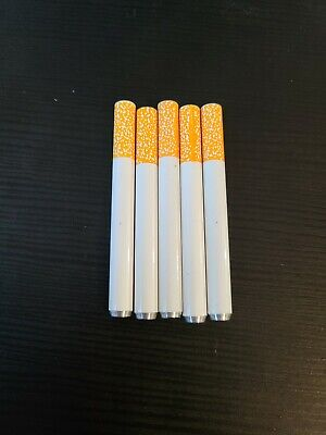 5x Metal One Hitter Pipe Cigarette Style Dugout Bat 3 Inch Long FREE USA S/H!! 3 X Metal Stylus