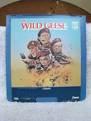 Rare Ced Videodisc The Wild Geese  1978  Cbs Fox Video  Part 1   2  Collectible