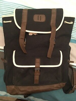 Large Canvas River Island Satchel Style Backpack