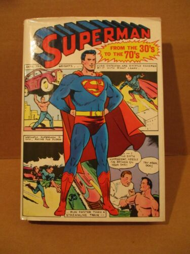 Superman From The Thirties To The Seventies HARDCOVER BOOK w) DJ Siegel Shuster