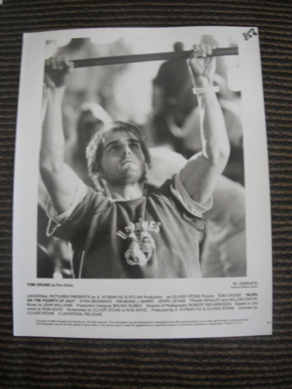 Tom Cruise Born on the 4th of July 1998 B&W Photo Photograph Promo Movie