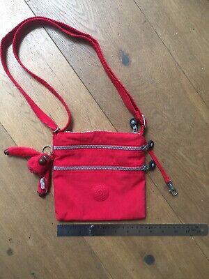 Kipling Alvar Bag In Red 3 Compartments