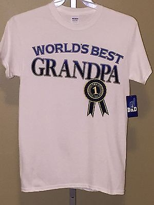 - Men's Gildan Number 1 Dad Heavy Cotton World's Best Grandpa, Size S (34-36)