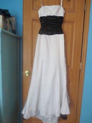 wn white black long ruffle strapless dress prom 3 4 s formal (White Masquerade Dresses)