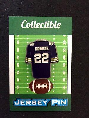 Minnesota Vikings Paul Krause jersey lapel pin-Classic Retro styled (Jersey Style Pin)
