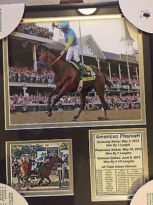 American Pharoah Framed Picture Triple Crown Winner Nwt Last Ones