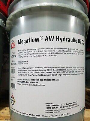 Phillips 66 Megaflow Aw 32 Hydraulic Oil 5 Gallon Pail Ro Compatible
