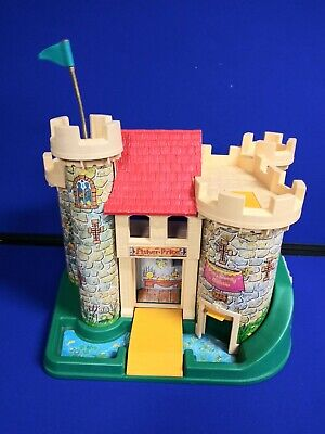 Vintage 1974 Fisher Price Little People Play Family Castle Only #993