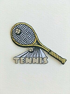 #2491S Lot 4Pcs Silver Tennis Ball Embroidery Iron On Applique Patch