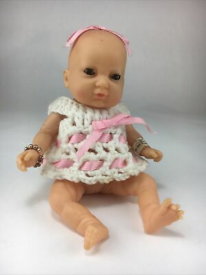 Vintage Rare Blue Box Born Baby Doll Very Realistic Life 9 Inch