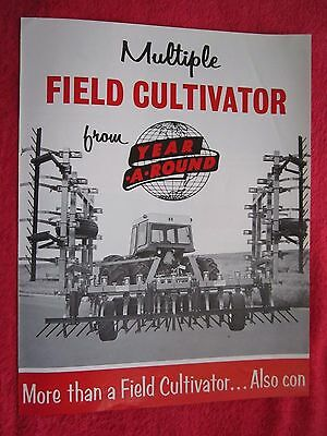 Vintage 1970s Year-a-round Multiple Field Cultivator Brochure