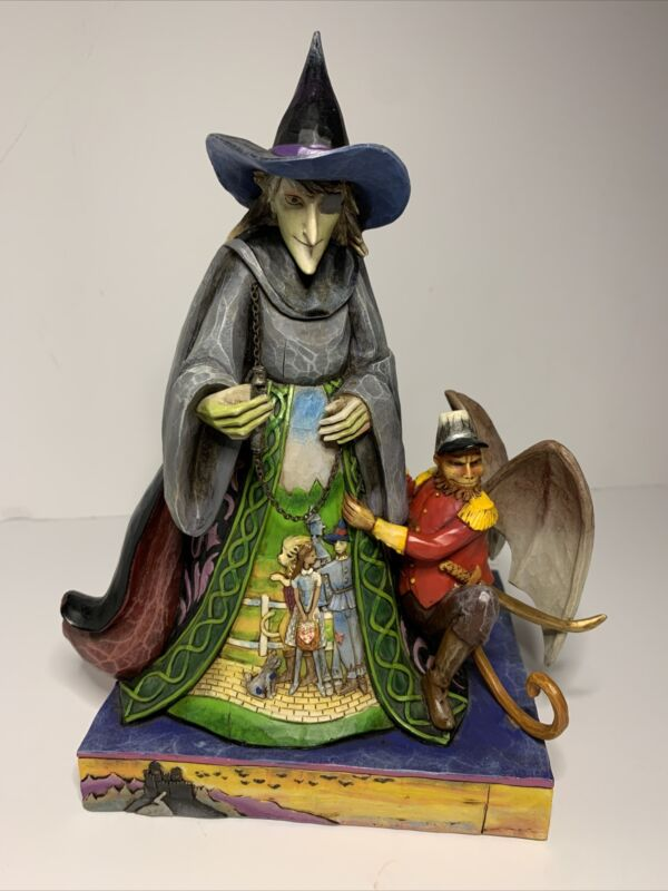 """Jim Shore """"Wicked"""" Wizard of Oz 4009049 No Box or Tag Witch Flying Monkey"""