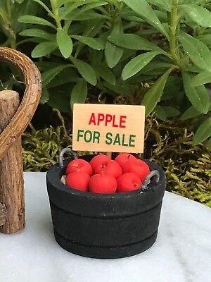Miniature Dollhouse FAIRY GARDEN Accessories ~ Mini Bucket of Apples for Sale - Fairy Gardens For Sale