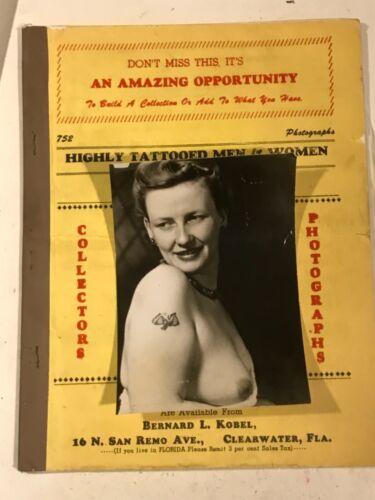 Antique vintage tattoo Bernard Kobel collectors photo 50s60s