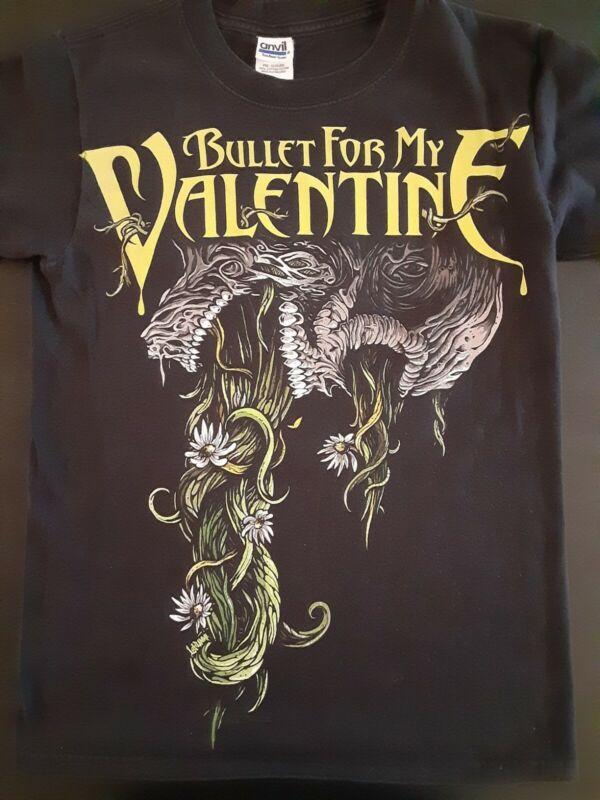 BULLET FOR MY VALENTINE US SUMMER TOUR 2009 BLACK T SHIRT PRE WORN