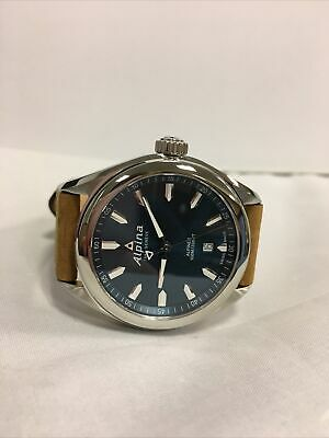 ALPINA Stainless Steel Blue Dial Brown Leather Men's Watch AL240NS4E6 MSRP: $795
