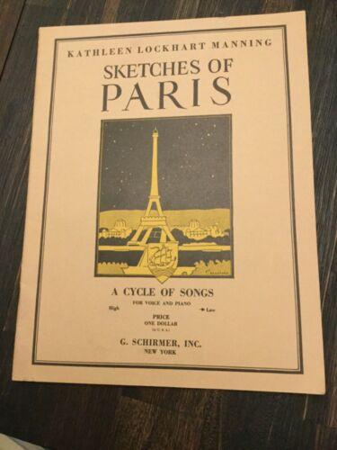 Kathleen Lockhart Manning Sketches of Paris Music Book 1925