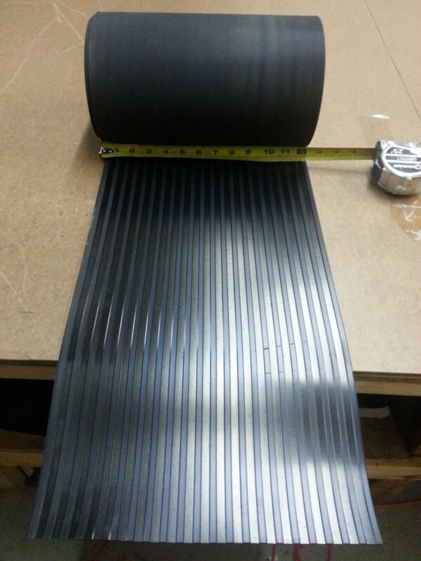 "WIDE RIB RUBBER MATTING ROLL 12""WIDE X20/25 FT LONG"