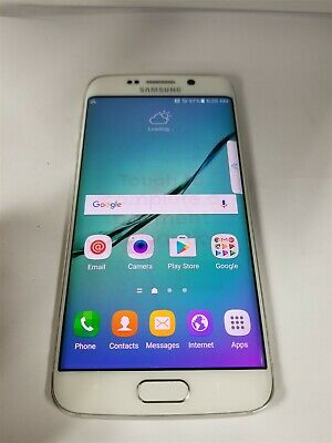 Samsung Galaxy S6 Edge 32GB White SM-G925A Unlocked GSM World Phone BW5349