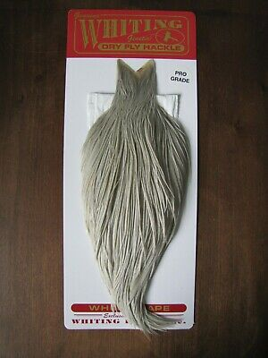 Fly Tying Whiting 100/'s Saddle Hackle Grizzly sz#12