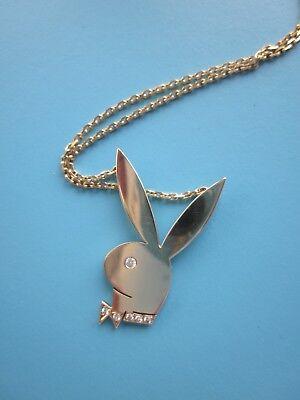 Üppige Playboy Gliederkette Kette mit Kugeln Ring Modeschmuck Bunny