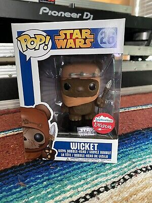 Funko Pop Star Wars! Wicket (Flocked) Fugitive Toys Exclusive - RARE