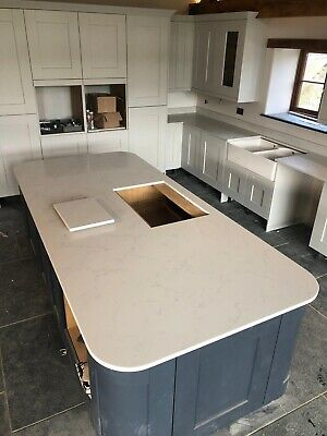 Carrara Jade White  Quartz Kitchen Worktop | All colours available | Affordabl