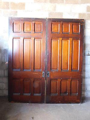 Antique Victorian Pocket Doors - C. 1890 Butternut Architectural Salvage