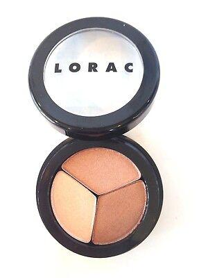 Lorac Eye Shadow Baked Eyeshadow Trio - Bronzed Bombshell Neutral Colors - NWOB