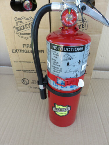 NEW 5-lb.ABC 3A:40:BC FIRE EXTINGUISHER 2021 CERTIFIED W/VEHICLE BRACKET & SIGN