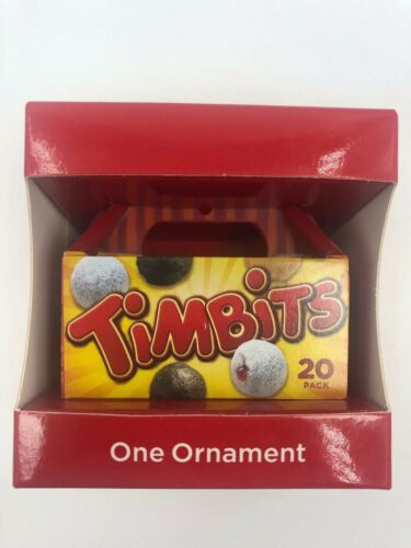 TIM HORTONS 2014 Coffee Christmas Xmas Ornament Box of TIMBITS Free Ship