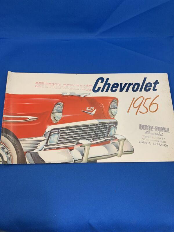1956 CHEVROLET ORIGINAL DEALERSHIP CAR SALES BROCHURE CATALOG CHEVY VINTAGE 56