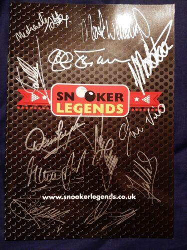 Signed Snooker Legends Programme O'Sullivan Hendry Davis Williams White + More