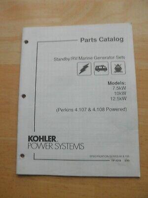 Kohler Standbyrvmarine Gen Sets 7.5kw 10kw 12.5kw Perkins Powered