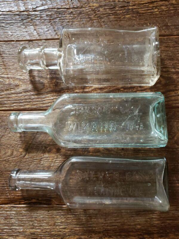 QUACK CURE Antique Bottle LOT OF 3