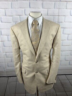- Jos A Bank Men's Light Gold Linen Wool Blend Sport Coat Blazer Jacket 42 L P3325