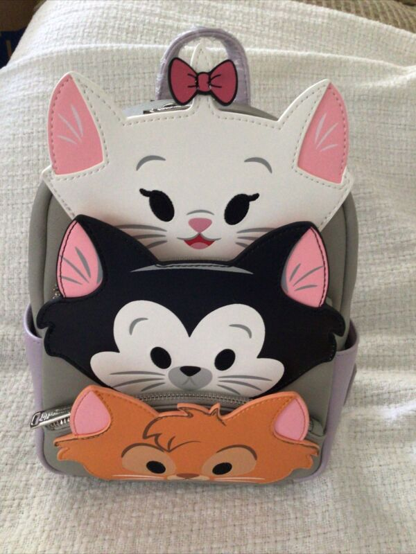 NEW Disney Parks Cats Loungefly Mini Backpack Marie Figaro Oliver NWT