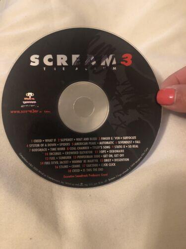 Static X Wayne Signed Scream 3 Cd Disk Album-free Shipping - $59.97
