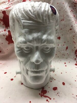 Styrofoam Head Halloween Decorations (Set of 2 Halloween Styrofoam Severed Head Zombie Frankenstein Prop Decoration)