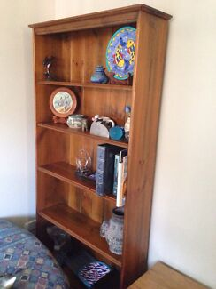 Sold timber bookshelf. 94cm W x 184cm H. Lake Innes Port Macquarie City Preview