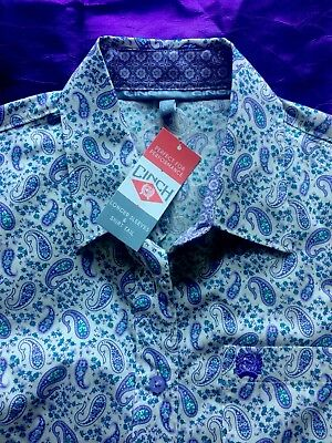 Paisley-snap (NWT CINCH Women's Paisley Snap Western Shirt)