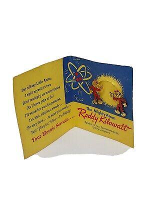 Vintage Reddy Kilowatt Screw Back Earrings 1951 On original Card