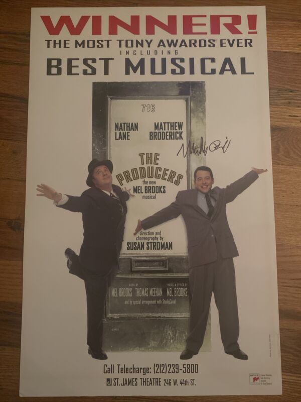 The Producers Broadway Signed Poster