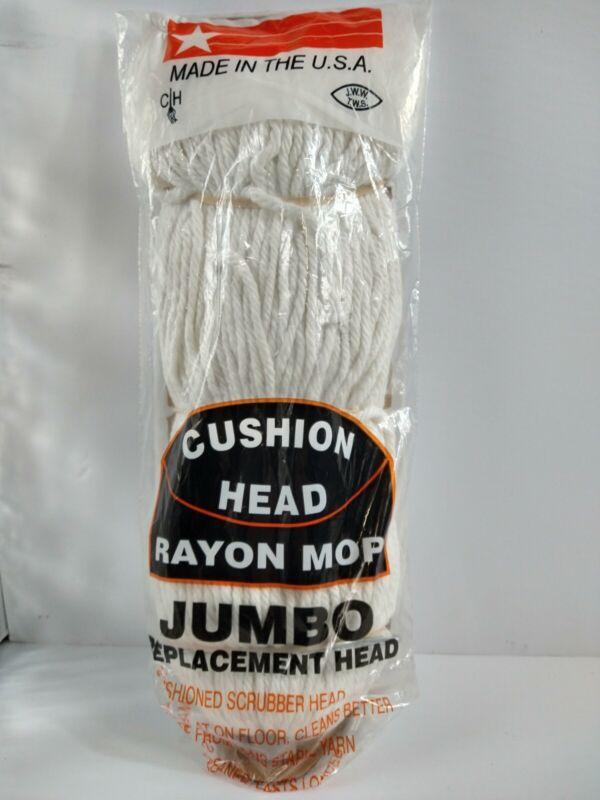 Jumbo Rayon Cushion Head MOP REPLACEMENT POLY screw on threaded JW Mfg. Co. #14