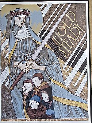 Hold Steady  Band Mini-Concert Poster Reprint for 2010 Chicago IL Gig  14x10