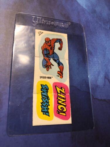 """Spider-Man Marvel Super Heroes Stick-Ons Cracker Jacks """"Zing"""""""