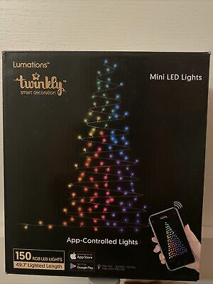 Luci di natale Twinkly 150 RGB (seconda generazione 2020) Alexa Google Home