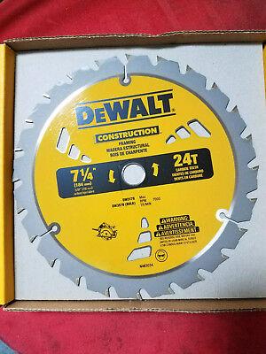 DEWALT DW3578 7-1/4-Inch 24T Framing Carbide Thin Kerf Circular Saw Blade ()