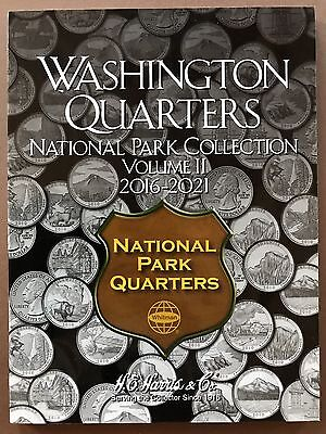 Washington Quarters National Park Collection Vol II 2016-2021 Album Folder Coins