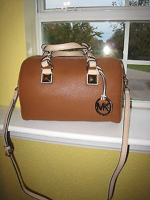 MICHAEL KORS  GRAYSON CHAIN CONVERTABLE SATCHEL LUGGAGE  LEATHER  NEW  $368.00